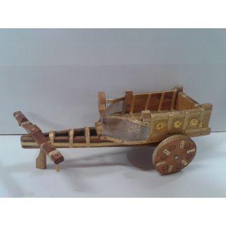 Wodden Handycraft Cart Natural Wood Colour
