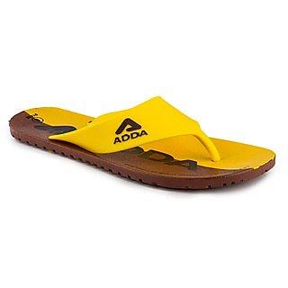 04b343c993f374 Adda Mens Stylish Slippers WP-Roadies-03-Yellow Brown
