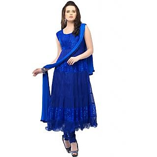 Madhav Enterprise Blue Braso Net Designer Party Wear Dress Md10004