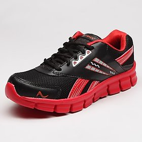 Playback Men'S Black  Red Synthetic Sports Shoes