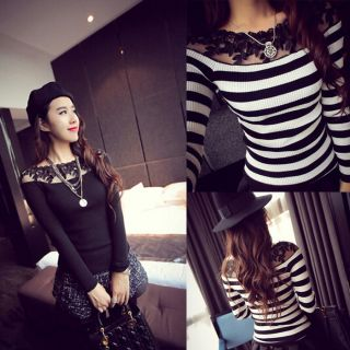 efe6cb160 Black Colour Girl Fashion Sexy Embroided Net Top Blouse Shirt