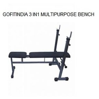 GOFITINDIA 3 IN 1 MULTIPURPOSE WEIGHT LIFTING BENCH HOME GYM USE