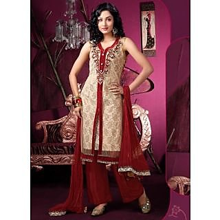 Women's Net Embroidered Anarkali Suits