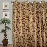 JBG Home Store Decorative E Design Long Door Curtain(Brown)