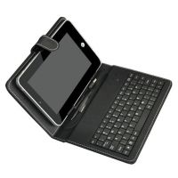 7 Inch USB Keyboard Leather Black Case Cover For Tablet