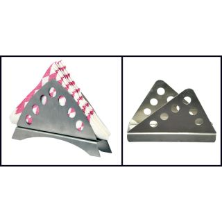 Stainless Steel Tri Combo Napkin Holder Set Of 2