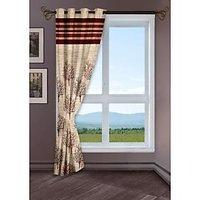 StoryHome Maroon Window Berry Curtain-WBR4010