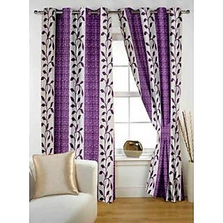 Story@Home Purple Polyster Door Curtain Nature 2 pc Door curtain