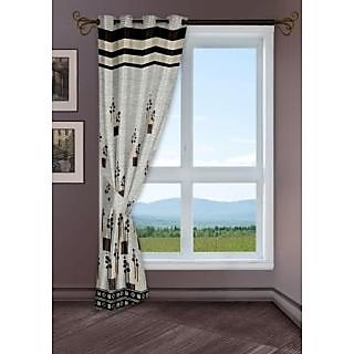 StoryHome Grey Window Berry Curtain-WBR4012
