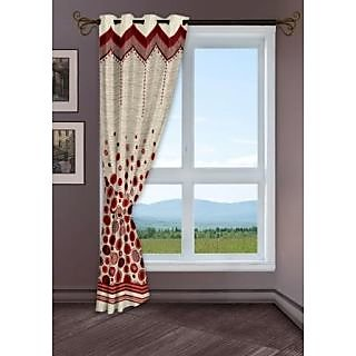 StoryHome Red Window Berry Curtain-WBR4019
