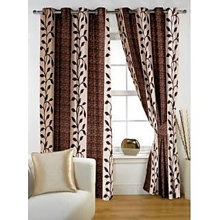 Story@Home Brown  Window Curtain Nature -WNR2025