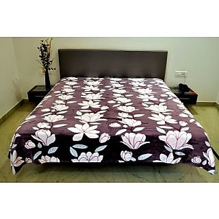 Valtellina Flower With Leaves Design Double Bed AC Blanket (PFD-014)