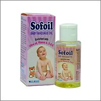 Sofoil Baby Massage Oil 60ml Olive Oil Vitamin ADE Improves Skin Tone-Pack Of 3