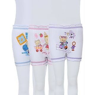 Kids Bloomer Special White Set of 3
