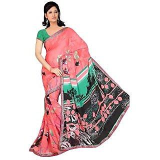 MADHAVI  MVN119 Madhavi Floral Print Daily Wear Art Silk Sari