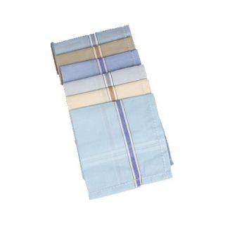 Coloured Handkerchief set of 6