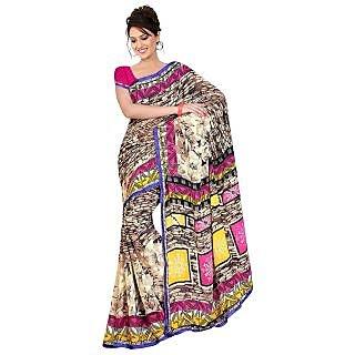 MADHAVI  MVN123 Madhavi Floral Print Daily Wear Art Silk Sari