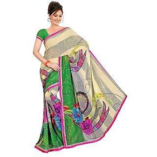 MADHAVI  MVN116 Madhavi Floral Print Daily Wear Art Silk Sari