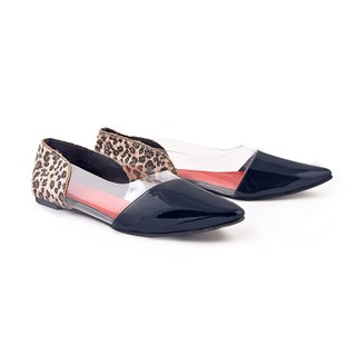 f5108ae93dc5 Ladies Sandals - Pointed Toe Shoes   Short Heels - ZDF0097 - BLACK - Zaera
