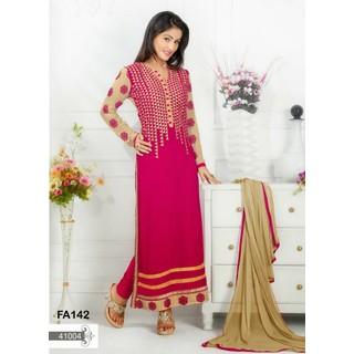 Fabfirki New Fasion Designer Pink Salwar Suit By Heena Khan