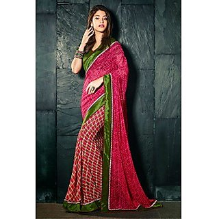 Ethnicbasket Khaki Brocade Lace Saree With Blouse