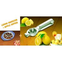 Deluxe Lemon Squeezer Stainless Steel With Opener + Apple Cutter