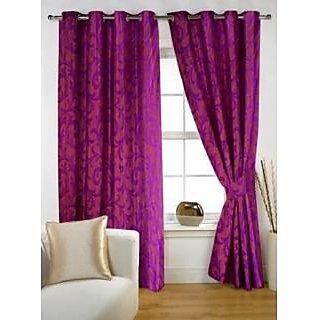 Story@Home Purple  Window Curtain Nature