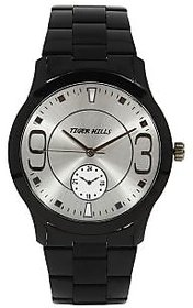 Tigerhills Round Dial Black Metal Strap Quartz Watch For Men