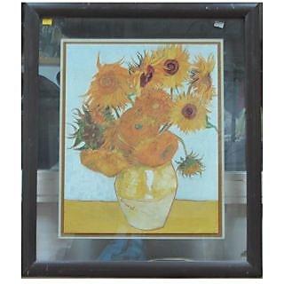 Still Life Of Sunflower And Flower Base