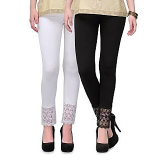 white  black lace plazzo legging(viscose lycra-4 way stretchable)