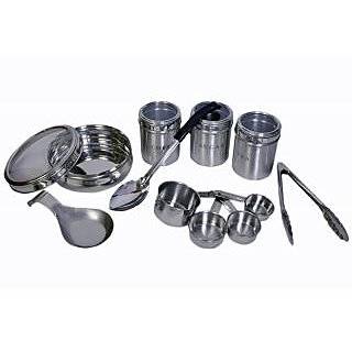Set Of 8 Kitchen Utility Set Large Single Spoon Rest See Through