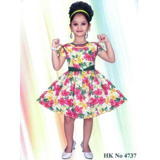 3cb8b0b7a79c Kids dress baby clothing girls stylish Frock Yellow 3 4 5 years