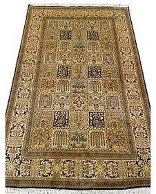 Kashmir Silk On Silk Carpet