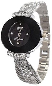 Gorgeous Analog Silver Stainless Steel Wrist Watch (SK-652) - Women