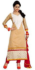 Florence Beige Rangoli Georgette Embroidered Suit
