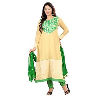 Florence Yellow Chiffon Embroidered Suit (Unstitched)