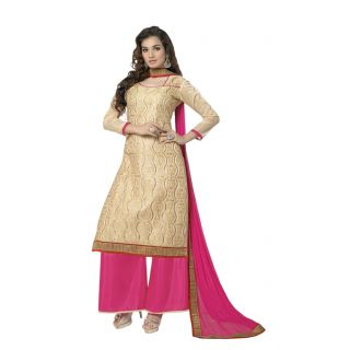 Florence Mustard Sonia Georgette Embroidered Suit (Unstitched)