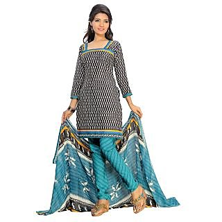 Florence Multicolor Cotton Lace Salwar Suit Dress Material (Unstitched)