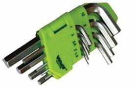 Wulf 9 Pcs Short Hex Key 9Pcs Hex Short Allen Key Set 1.5, 2, 2.5, 3, 4, 5, 6, 8