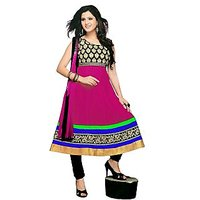 Florence Pink Paakhi Combric Cotton Embroidered Suit