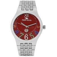 Tigerhills Round Dial Silver Metal Strap Quartz Watch For Men