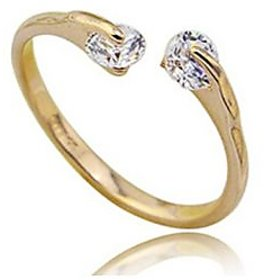 Girlz! Gold Plated  Silver,Gold Rings For-Women