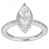 18 KT Gold Plated Solitaire Diamond Ring (Option 27)