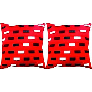 Dream Care Designer Cushion Cover-Set of 2Pcs (Ruby02)