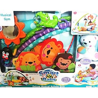 Smart Baby Deluxe Musical Activity Gym - Colorful  Interactive