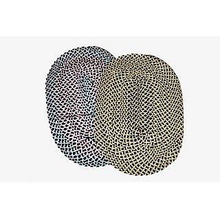 Valtellina Radiant Combo of 2 Multicoloured Oval shaped Door mats (MATS-005)