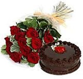 Cake with Bunch Of Flowers