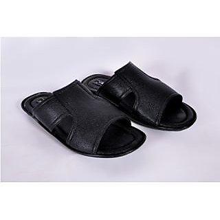 Hansx Men's Black Slip On Floaters