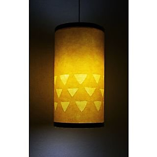 9 GIFTS Yellow Round Hanging Lamp