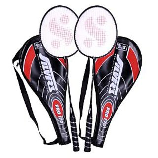 2 Silver's Pro-170 Badminton Racquets with 2 Individual 3/4Th Covers (Assorted)